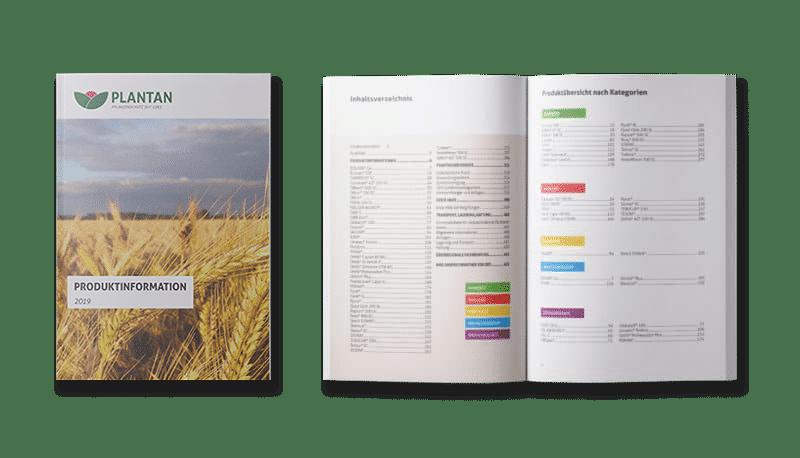 Plantan Broschüre offen